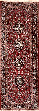 "Ardakan Red Runner Hand Knotted 3'3"" X 9'2""  Area Rug 100-11522"