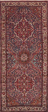 "Mahi Red Runner Hand Knotted 4'3"" X 10'3""  Area Rug 100-11544"