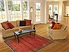 Gabbeh Red Hand Knotted 43 X 59  Area Rug 100-11550 Thumb 5