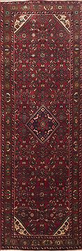 Persian Hamedan Red Runner 10 to 12 ft Wool Carpet 11604