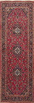 "Ardakan Red Runner Hand Knotted 3'3"" X 9'5""  Area Rug 100-11606"