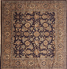 "Ardebil Blue Square Hand Knotted 8'3"" X 8'6""  Area Rug 100-11616"