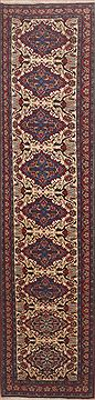 "Bidjar White Runner Hand Knotted 2'9"" X 12'9""  Area Rug 100-11622"