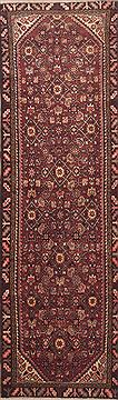 "Mussel Red Runner Hand Knotted 2'11"" X 9'8""  Area Rug 100-11653"