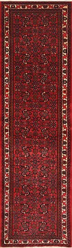 Persian Hossein Abad Red Runner 6 to 9 ft Wool Carpet 11678