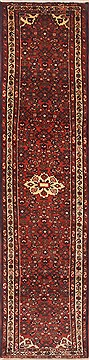 "Mussel Red Runner Hand Knotted 2'6"" X 11'4""  Area Rug 100-11679"