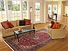 Tabriz Red Hand Knotted 69 X 102  Area Rug 100-11698 Thumb 4