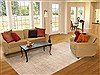 Modern Beige Hand Knotted 80 X 911  Area Rug 100-11721 Thumb 4