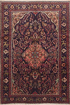 Persian Lilihan Blue Rectangle 7x10 ft Wool Carpet 11731