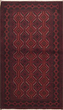 Persian Baluch Red Rectangle 4x6 ft Wool Carpet 11734