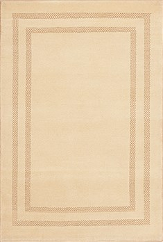 Indian Gabbeh Beige Rectangle 4x6 ft Wool Carpet 11739