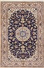 Nain Blue Hand Knotted 66 X 102  Area Rug 100-11747 Thumb 0