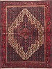 Sanandaj Red Hand Knotted 42 X 52  Area Rug 100-11753 Thumb 0