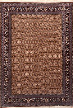 "Ardebil Brown Hand Knotted 6'8"" X 9'7""  Area Rug 100-11763"