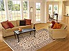 Kashan Beige Hand Knotted 63 X 94  Area Rug 100-11767 Thumb 4