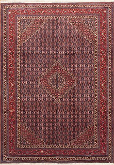 "Ardebil Red Hand Knotted 6'9"" X 9'6""  Area Rug 100-11769"