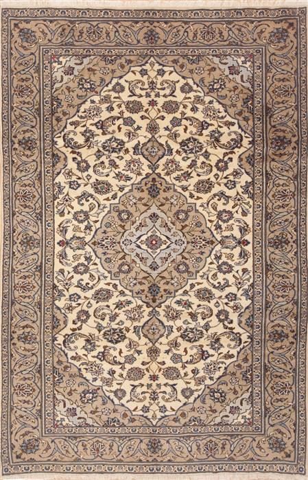 Persian Ardakan Beige Rectangle 6x9 Ft Wool Carpet 11776