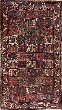 "Bakhtiar Brown Hand Knotted 5'2"" X 9'6""  Area Rug 100-11781"