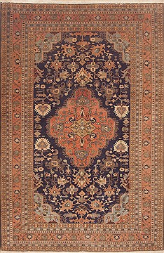 "Meshkin Red Hand Knotted 6'7"" X 10'1""  Area Rug 100-11783"
