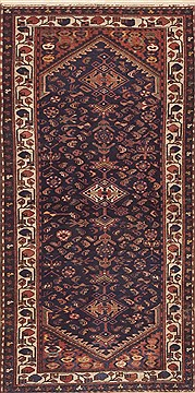 Persian Malayer Blue Rectangle 3x5 ft Wool Carpet 11795