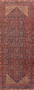 "Malayer Red Runner Hand Knotted 4'10"" X 12'11""  Area Rug 100-11802"