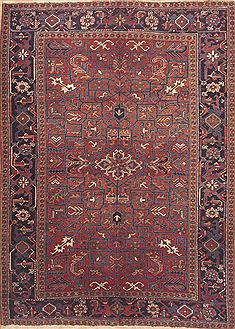 "Goravan Red Hand Knotted 6'11"" X 9'8""  Area Rug 100-11806"