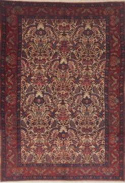 "Ardebil Red Hand Knotted 7'3"" X 10'6""  Area Rug 100-11811"