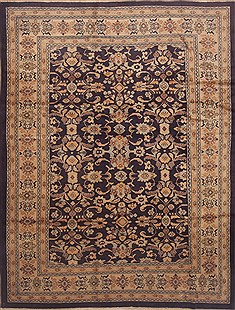 "Ardebil Yellow Hand Knotted 8'0"" X 10'9""  Area Rug 100-11814"