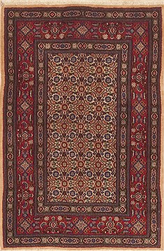 Persian Mood Red Rectangle 3x4 ft Wool Carpet 11821