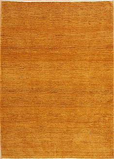 Gabbeh Yellow Hand Knotted 5 6 X 7 Area Rug 100