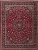 Mashad Red Hand Knotted 99 X 129  Area Rug 100-11830 Thumb 0