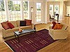 Indo-Tibetan Red Hand Knotted 60 X 90  Area Rug 100-11833 Thumb 4