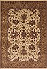 Indo-Tibetan Beige Hand Knotted 56 X 80  Area Rug 100-11842 Thumb 0