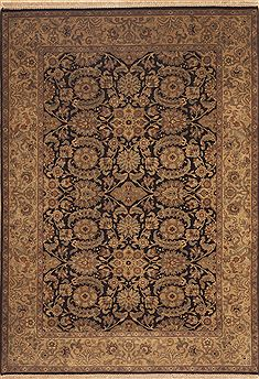 "Jaipur Black Hand Knotted 6'0"" X 9'0""  Area Rug 100-11869"