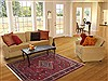 Bakhtiar Red Hand Knotted 47 X 71  Area Rug 100-11874 Thumb 5