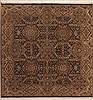 Jaipur Green Square Hand Knotted 50 X 50  Area Rug 100-11877 Thumb 0