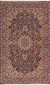 Persian Kerman Green Rectangle 5x8 ft Wool Carpet 11910