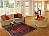 Qashqai Red Hand Knotted 50 X 79  Area Rug 100-11915 Thumb 4