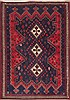 Afshar Red Hand Knotted 53 X 75  Area Rug 100-11917 Thumb 0