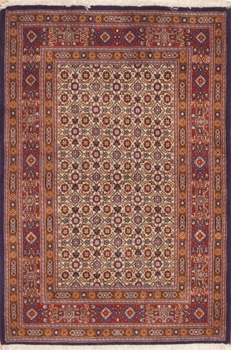 Persian Mood Beige Rectangle 3x4 Ft Wool Carpet 11938