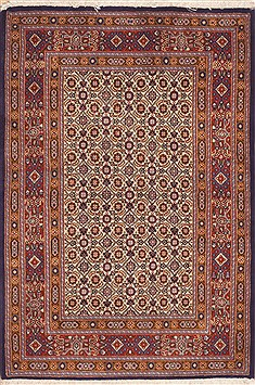 Persian Mood Beige Rectangle 3x4 ft Wool Carpet 11938