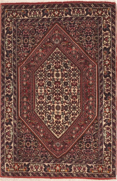 Persian Bidjar Red Rectangle 2x3 Ft Wool Carpet 11948