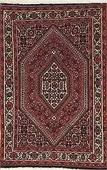 "Persian Bidjar Wool Red Rectangle Area Rug  (2'4"" x 3'5"") - 100-11968"