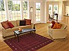 Gabbeh Red Hand Knotted 49 X 70  Area Rug 100-11979 Thumb 5