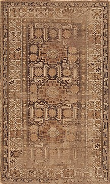 "Ardebil Brown Hand Knotted 3'9"" X 6'3""  Area Rug 100-11998"