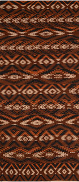 Afghan Kilim Brown Rectangle Odd Size Wool Carpet 110002