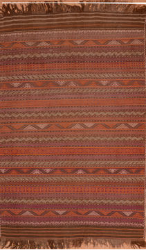 "Kilim Red Flat Woven 6'1"" X 11'1""  Area Rug 100-110039"