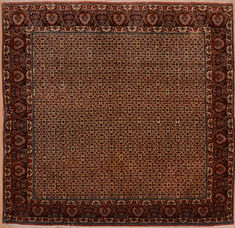 "Bidjar Green Square Hand Knotted 8'1"" X 8'3""  Area Rug 100-110052"
