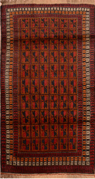 "Baluch Brown Hand Knotted 3'0"" X 5'7""  Area Rug 100-110106"