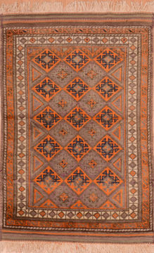 "Baluch Blue Hand Knotted 3'2"" X 4'7""  Area Rug 100-110146"